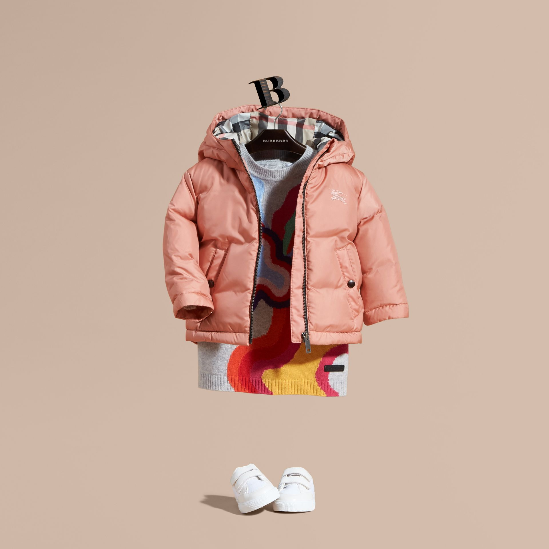 Light copper pink Reversible Puffer Coat Light Copper Pink - gallery image 1