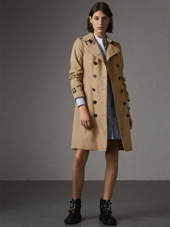 The Sandringham – Long Trench Coat in Honey
