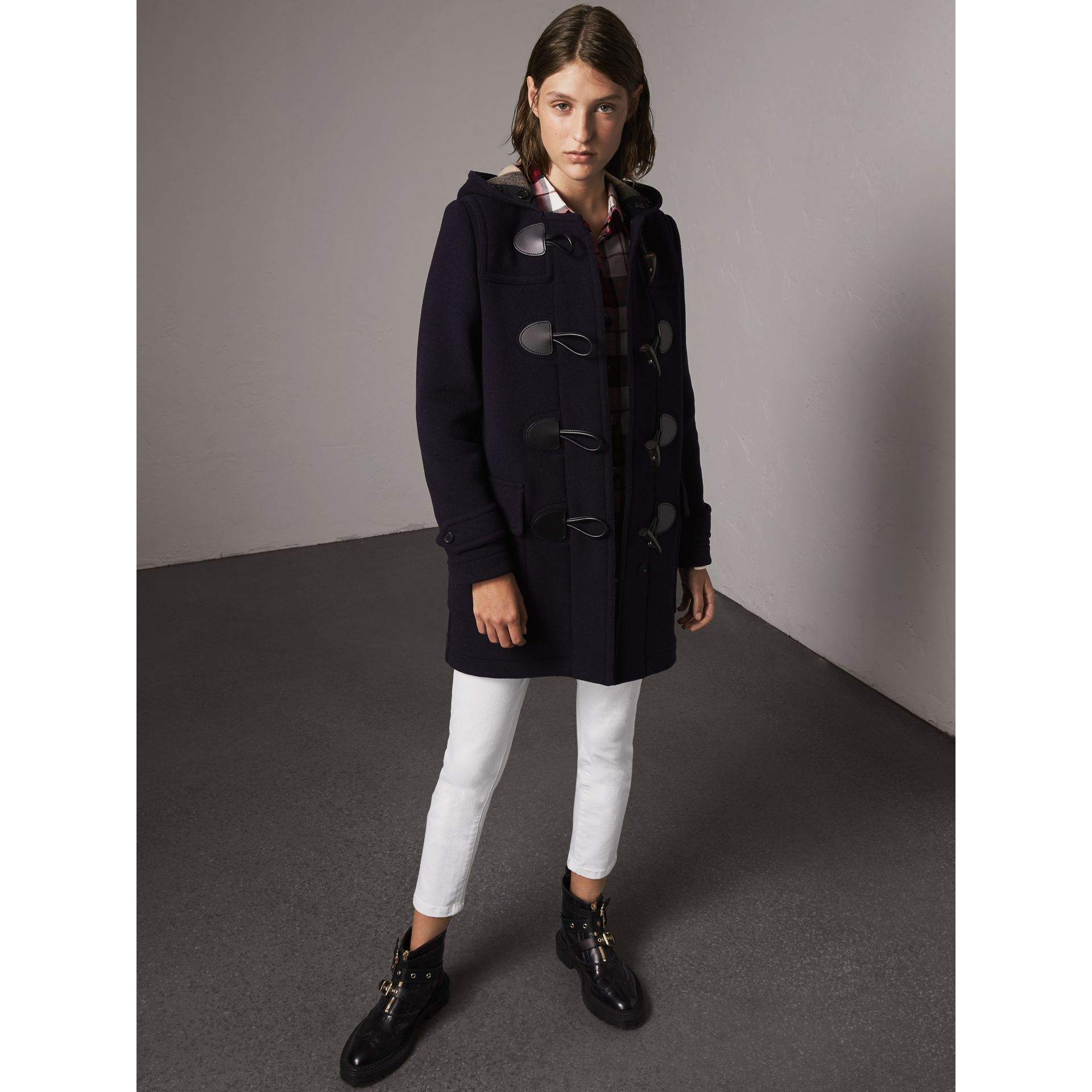 The Mersey Duffle Coat in Navy - Women | Burberry - gallery image 0