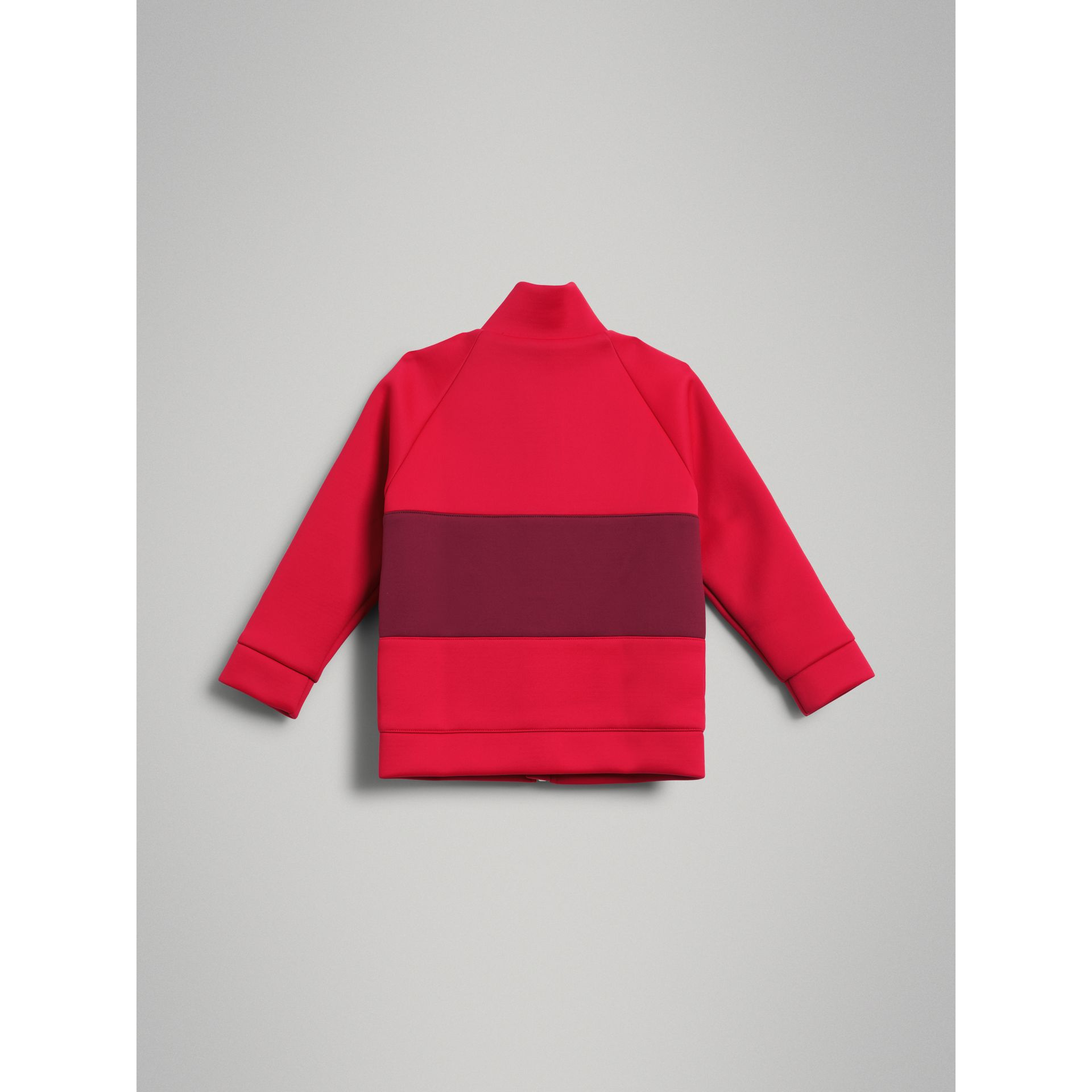 Bold Stripe Detail Tracksuit Top in Bright Red - Girl | Burberry - gallery image 3