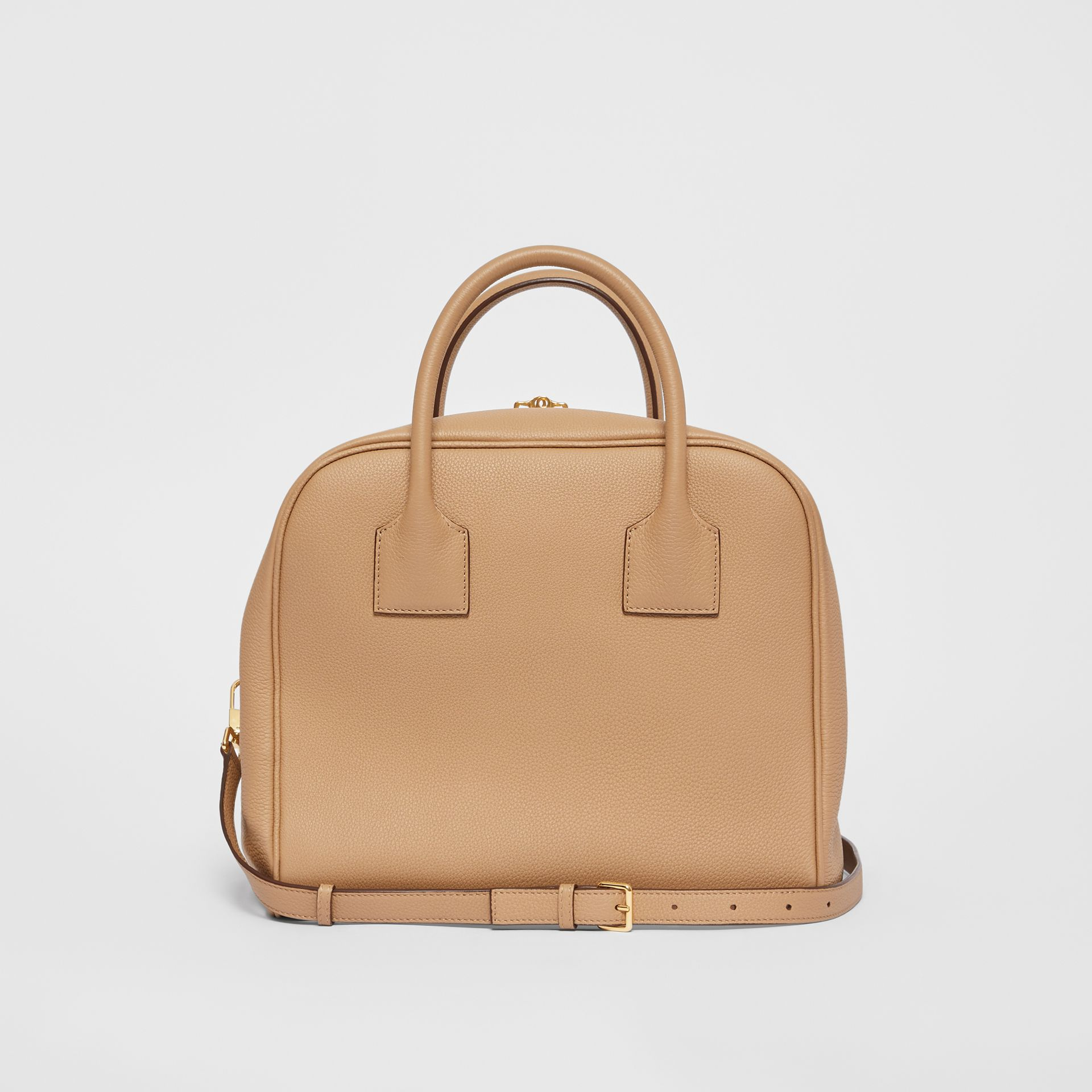 Medium Leather Cube Bag in Biscuit - Women | Burberry - gallery image 7