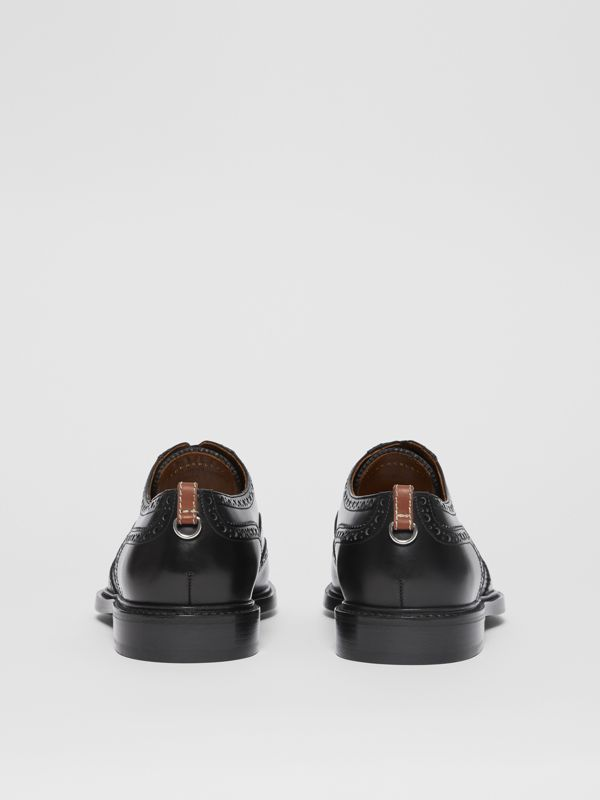 D-ring Detail Patent Leather Oxford Brogues in Black - Men | Burberry - cell image 3