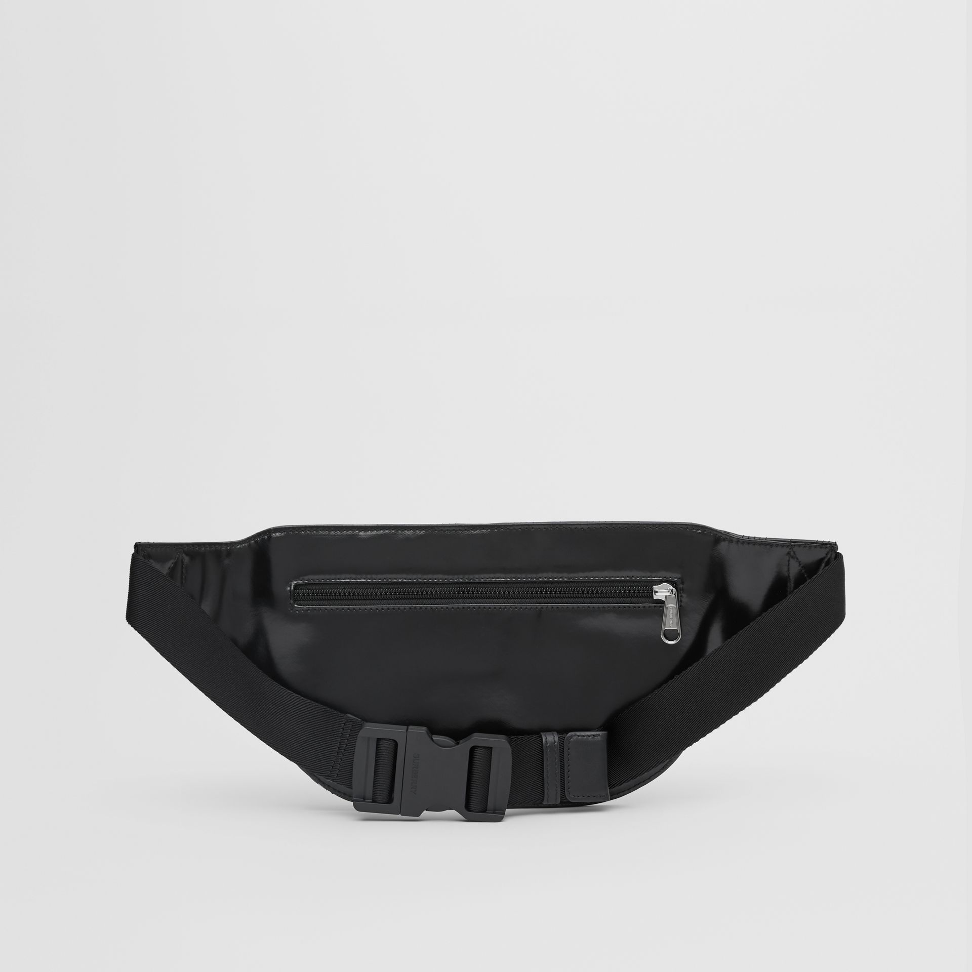 Horseferry Print Coated Canvas Brummell Bum Bag in Black - Men | Burberry United States - gallery image 9