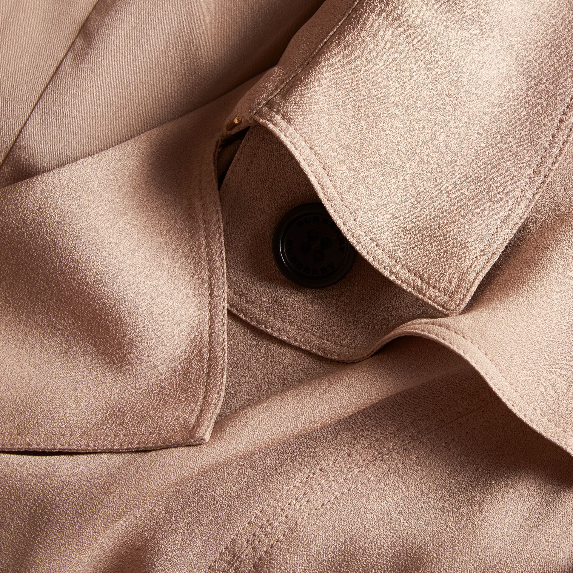 Silk Trench Dress in Nude - Women | Burberry - gallery image 2