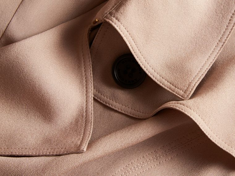 Silk Trench Dress in Nude - Women | Burberry - cell image 1