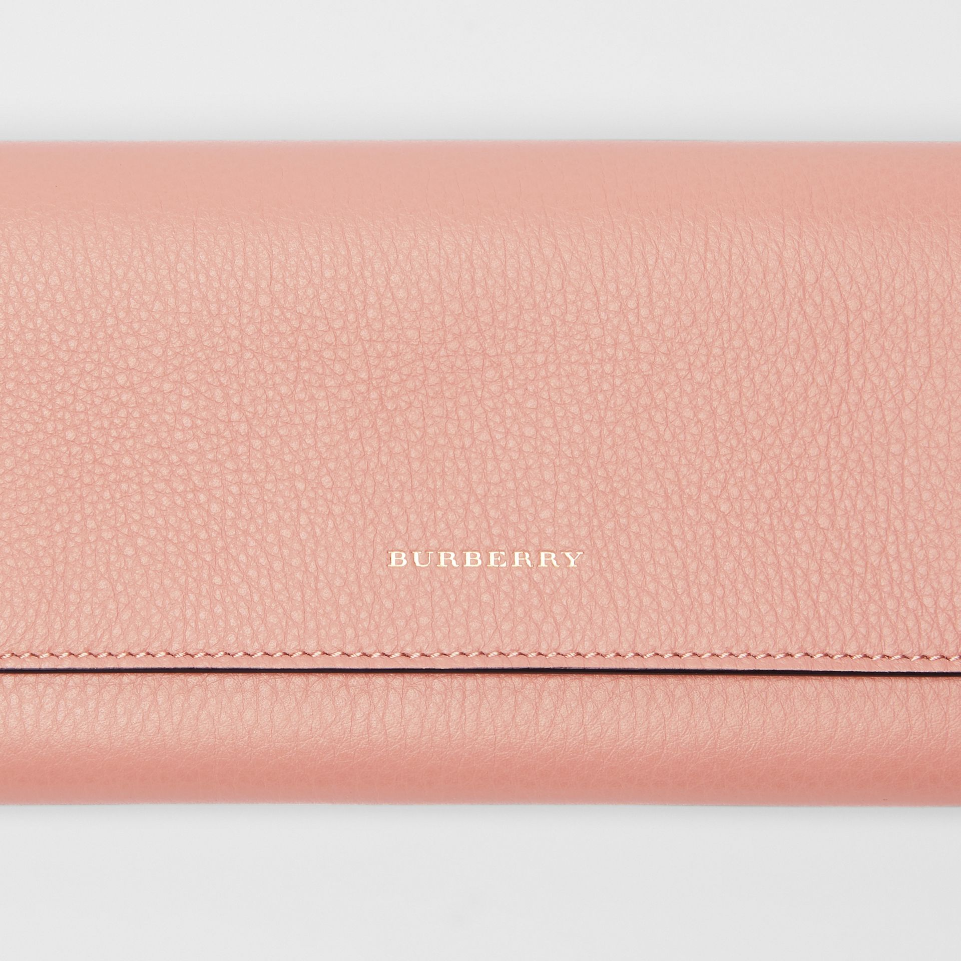 Leather Continental Wallet in Ash Rose - Women | Burberry - gallery image 1