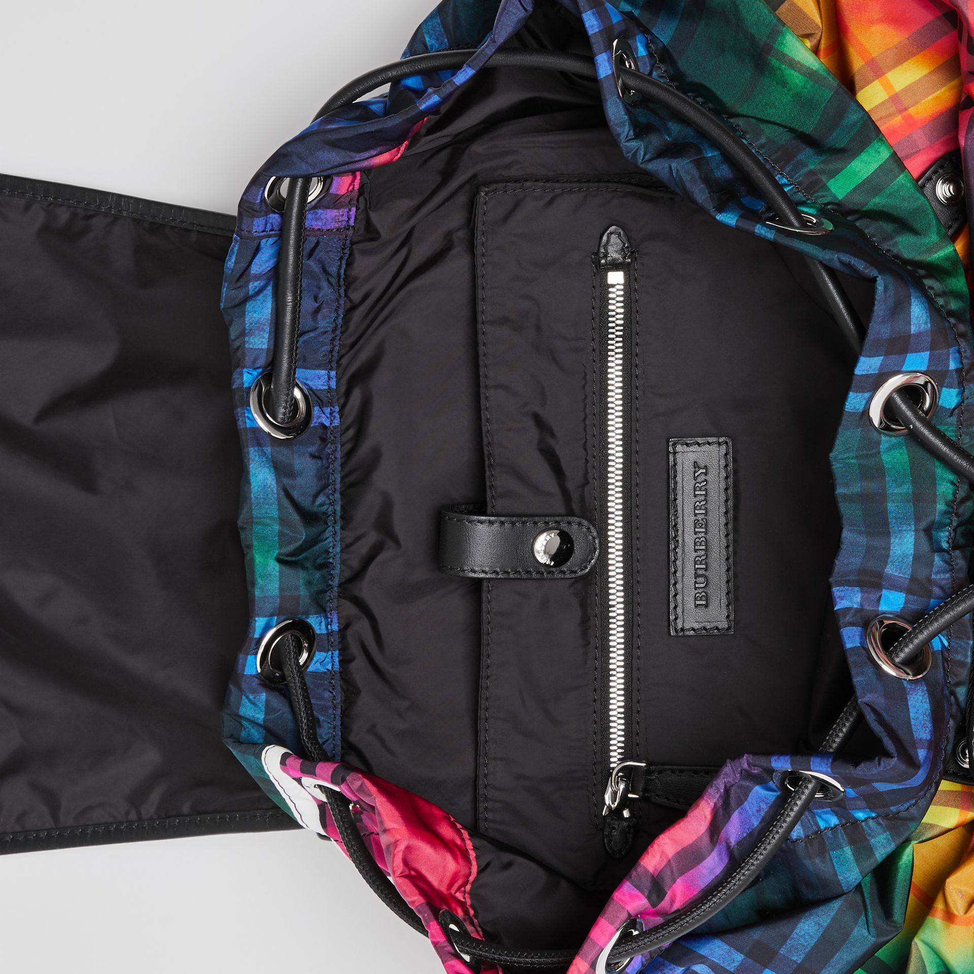 The Large Rucksack in Tie-dye Vintage Check in Multicolour | Burberry Singapore - gallery image 5