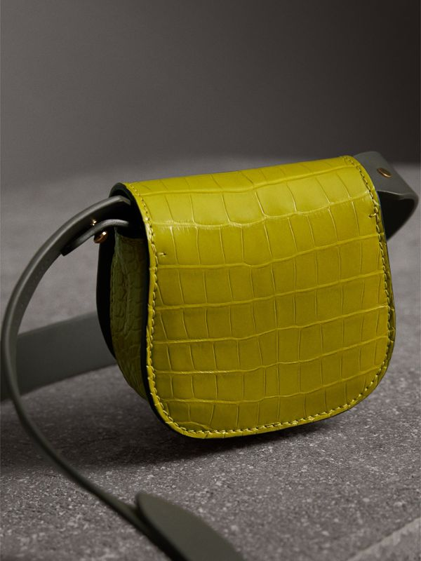 Mini sac The Satchel en alligator (Citron Vert Foncé) | Burberry - cell image 3