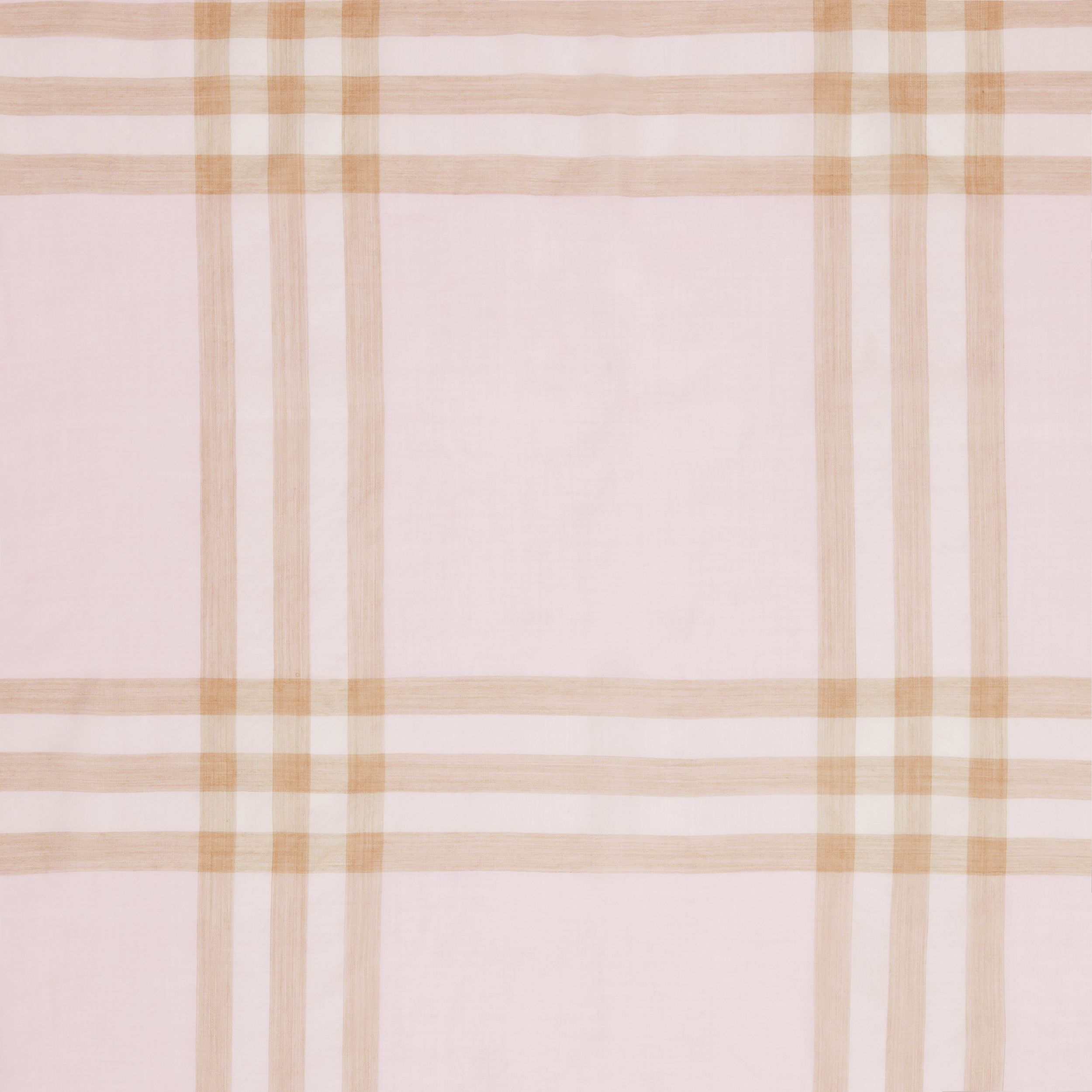 Lightweight Check Wool Silk Scarf in Alabaster | Burberry United States - 2
