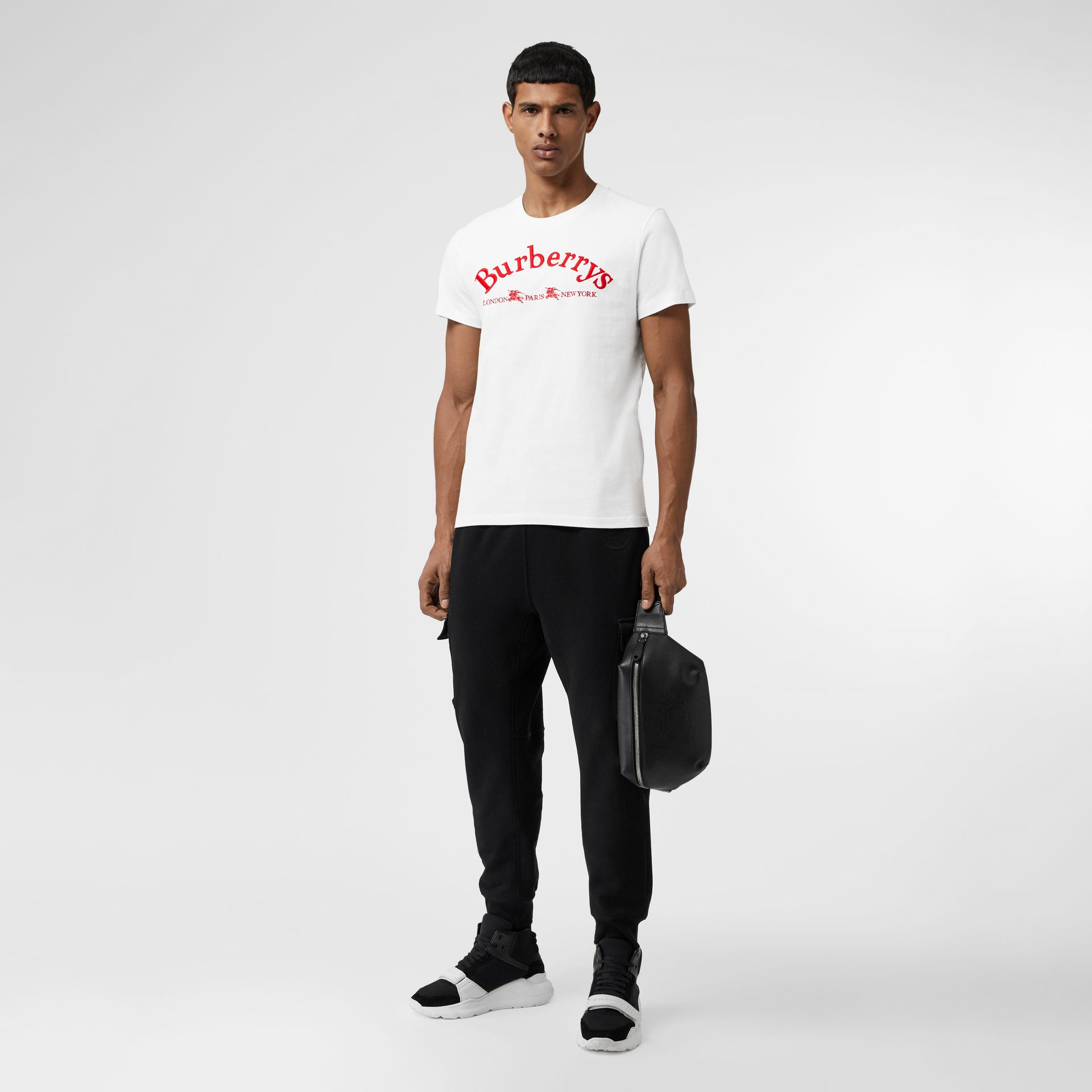 Archive Logo Cotton T-shirt in White - Men | Burberry United States - gallery image 0
