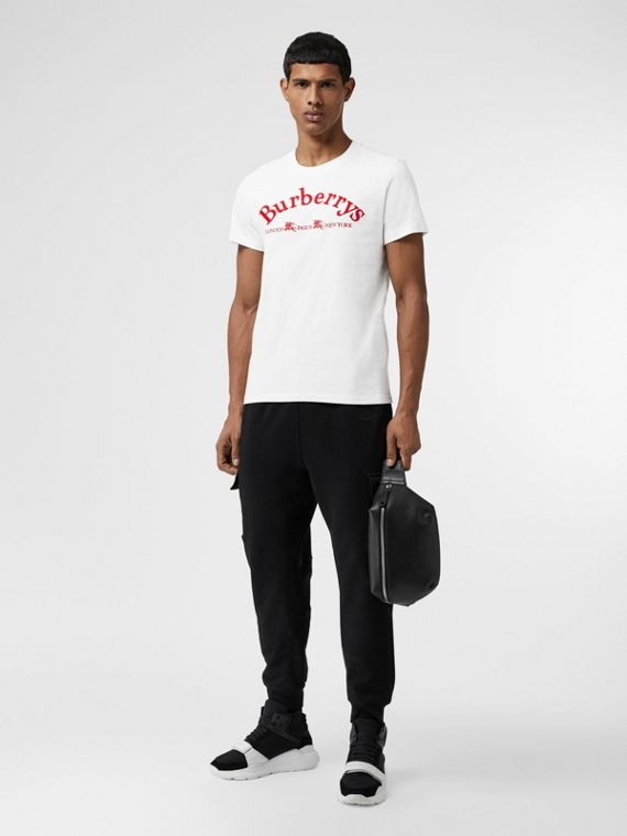 Archive Logo Cotton T-shirt in White