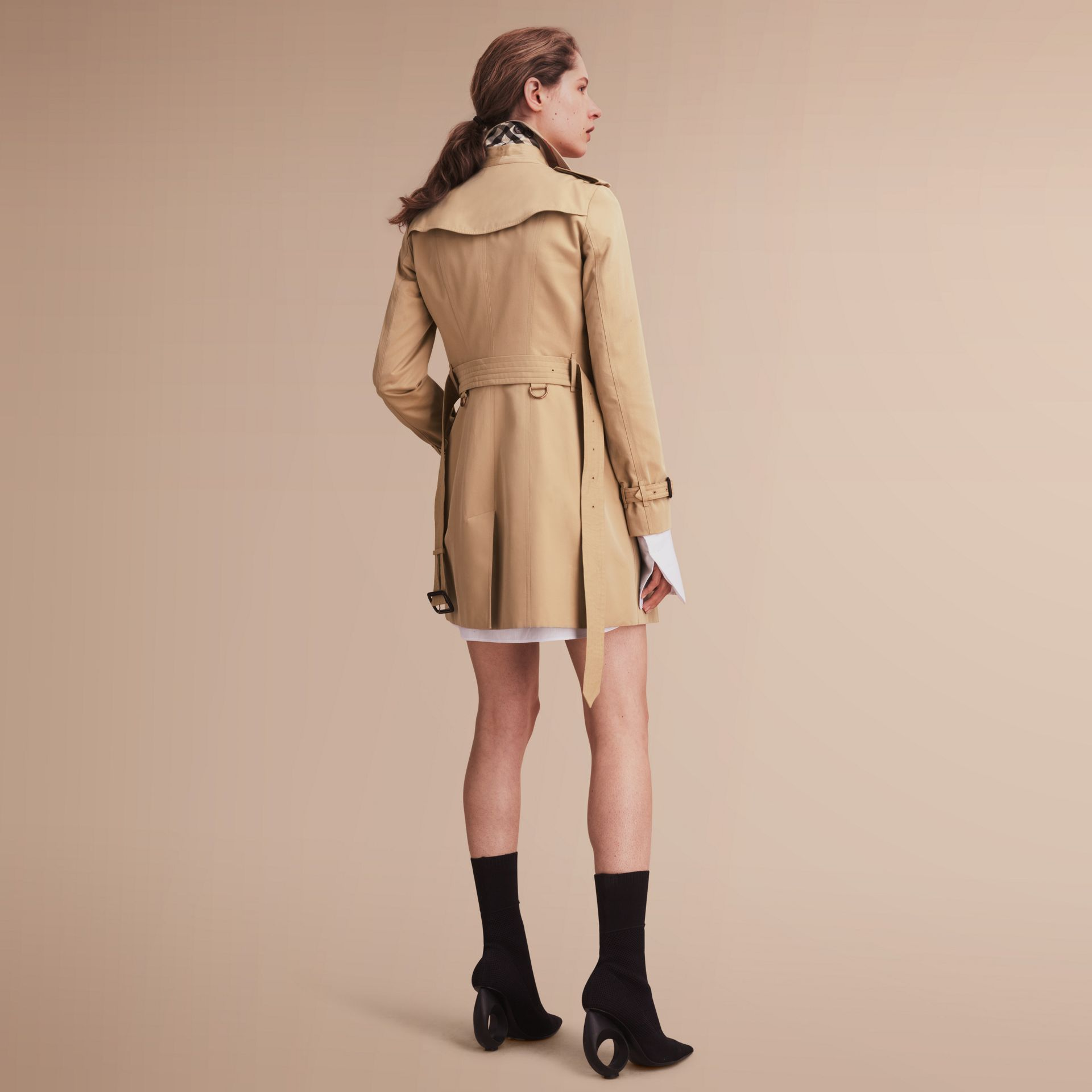 The Sandringham – Mid-Length Heritage Trench Coat Honey - gallery image 3