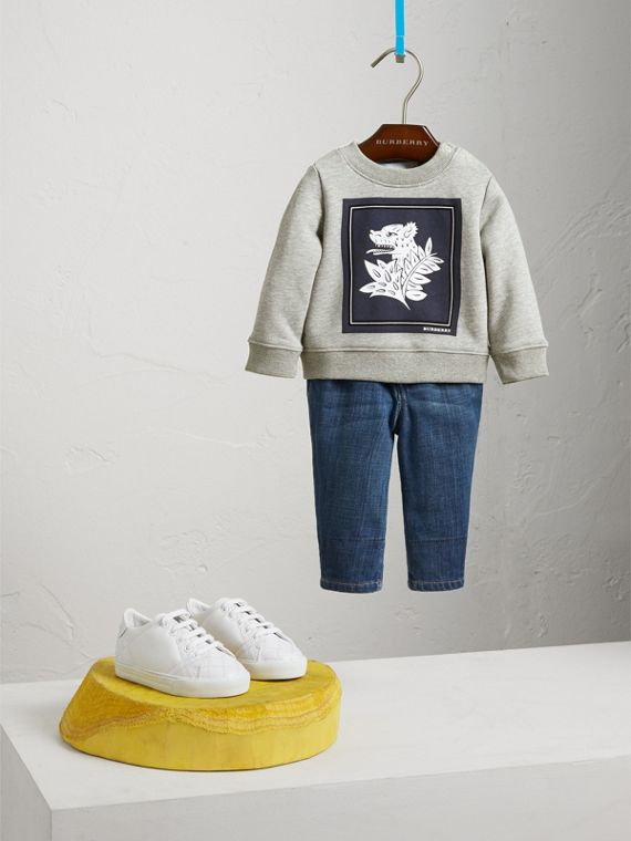 Beasts Print Cotton Sweatshirt | Burberry Singapore