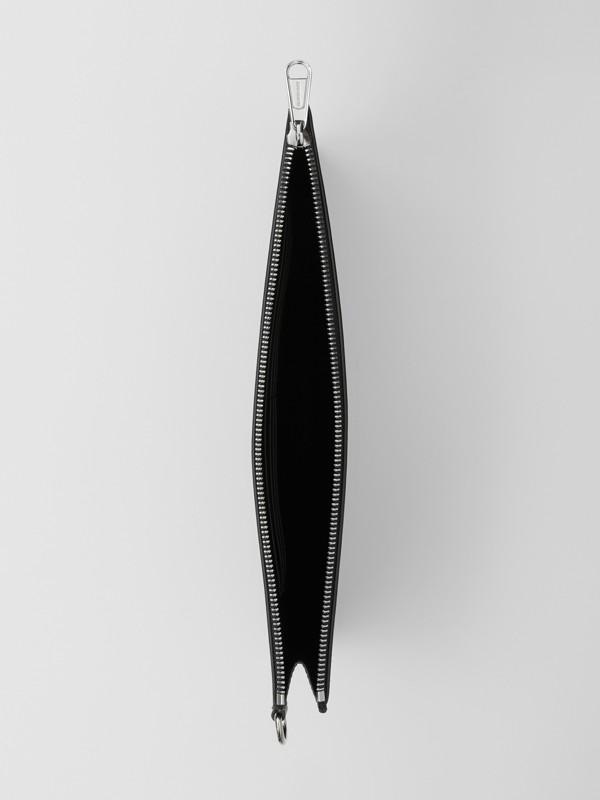 シンボルプリント レザー ジップポーチ (ブラック) | バーバリー - cell image 3