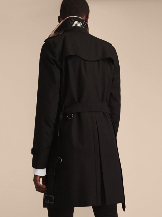 Black The Kensington – Long Heritage Trench Coat Black - cell image 3