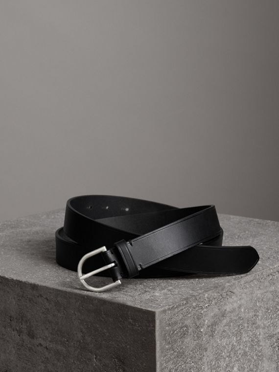 Bridle Leather Belt in Black