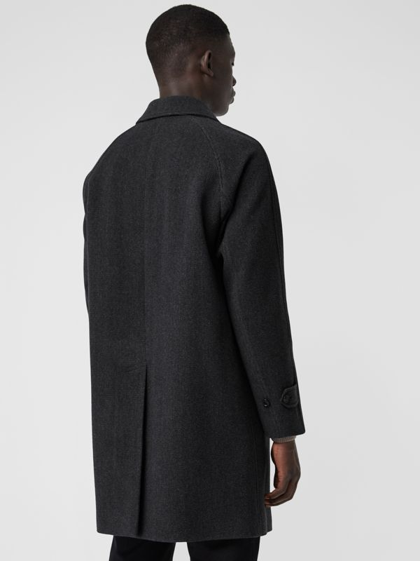 Wool Cashmere Blend Car Coat in Charcoal - Men | Burberry Hong Kong - cell image 2
