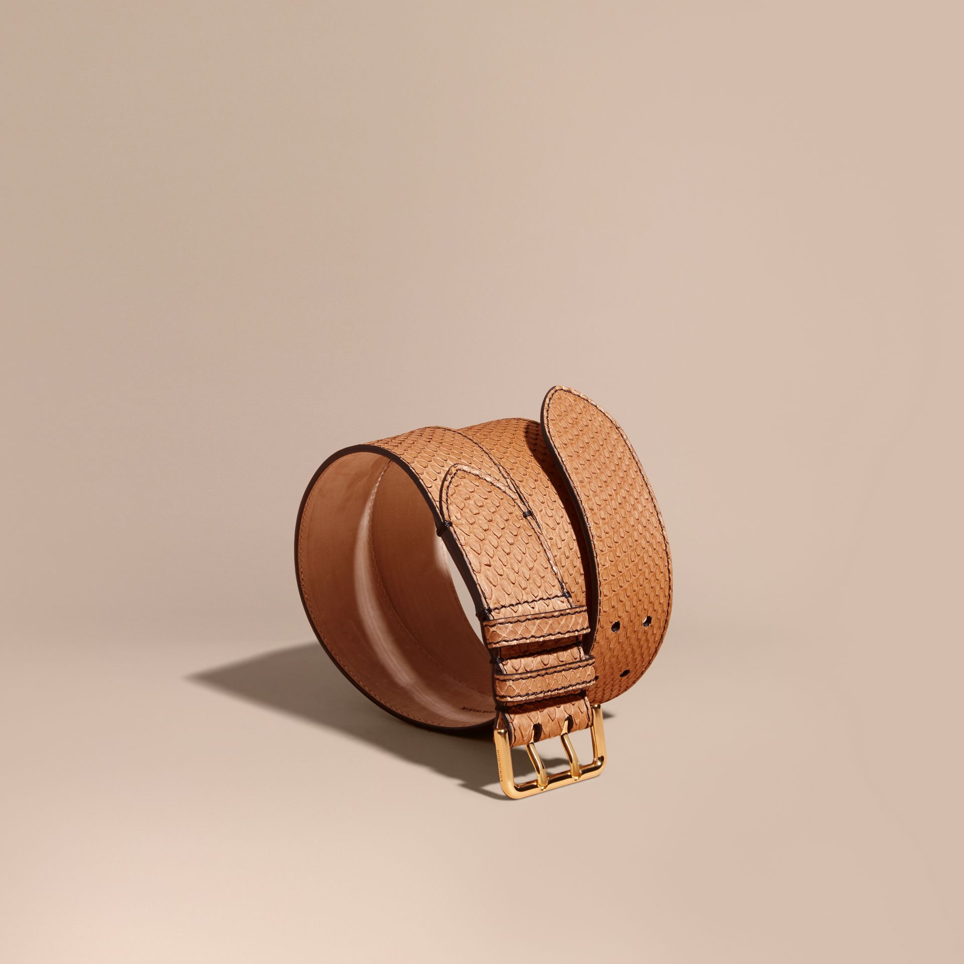 Python Belt in Camel - Women | Burberry - gallery image 1