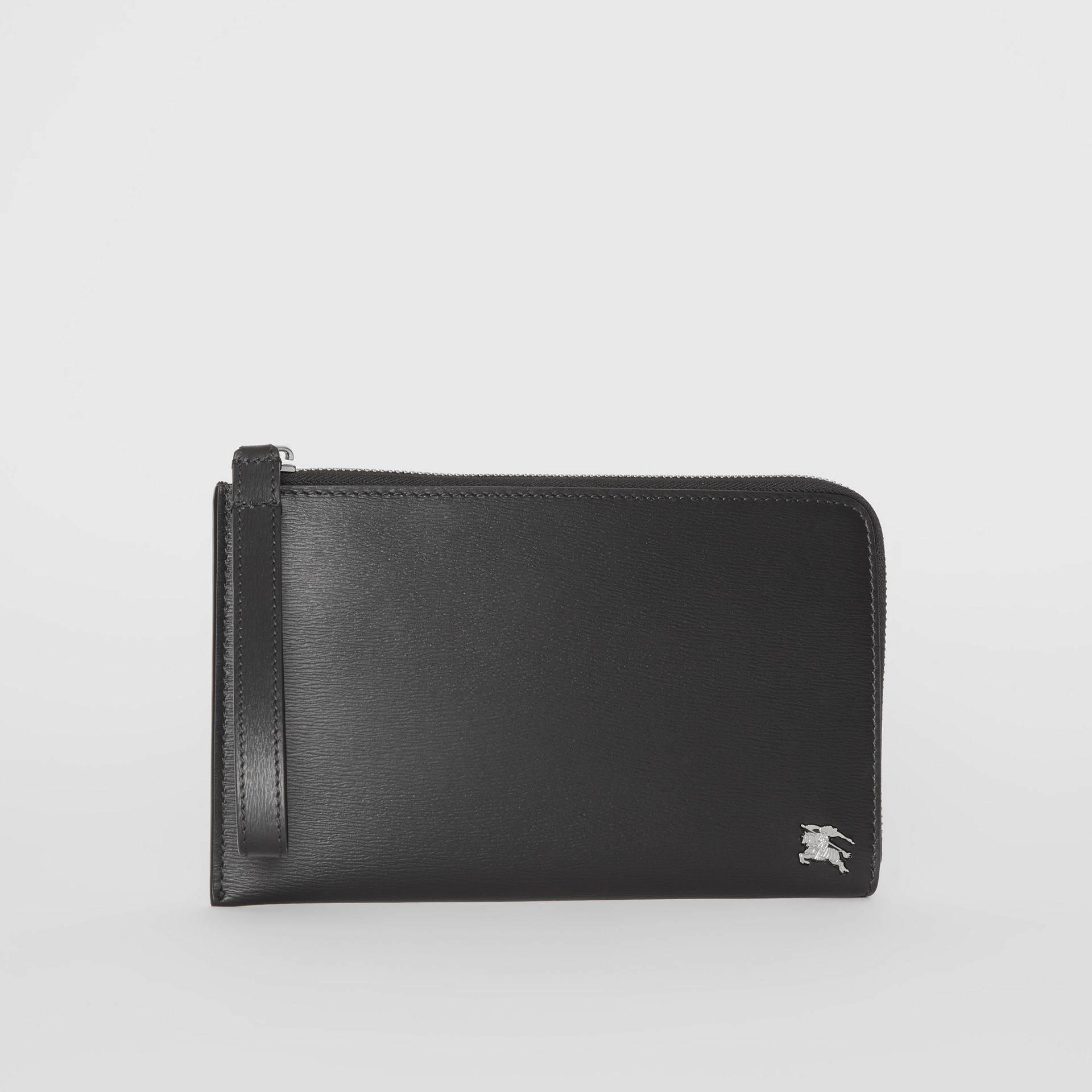 London Leather Travel Wallet in Black - Men | Burberry - gallery image 7