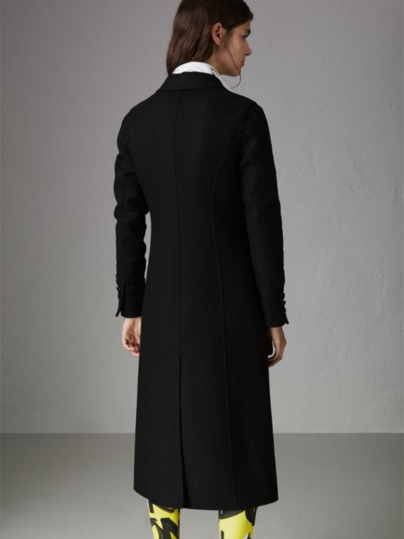 Double-breasted Cashmere Tailored Coat in Black - Women | Burberry Australia - cell image 2