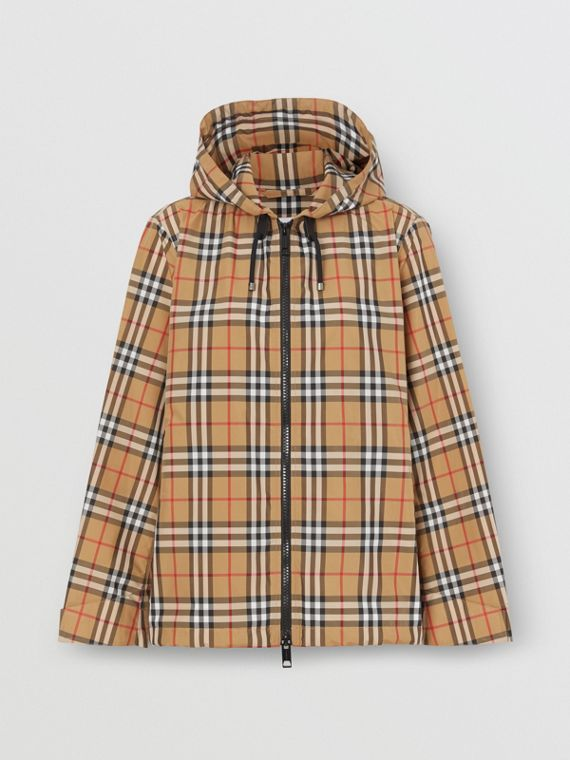 Vintage Check Lightweight Hooded Jacket in Antique Yellow