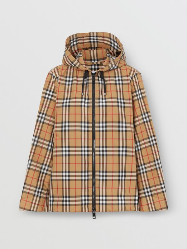 Vintage Check Lightweight Hooded Jacket in Antique Yellow - Women | Burberry - cell image 3