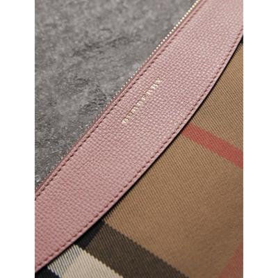Burberry - Clutch en coton House check et cuir - 2