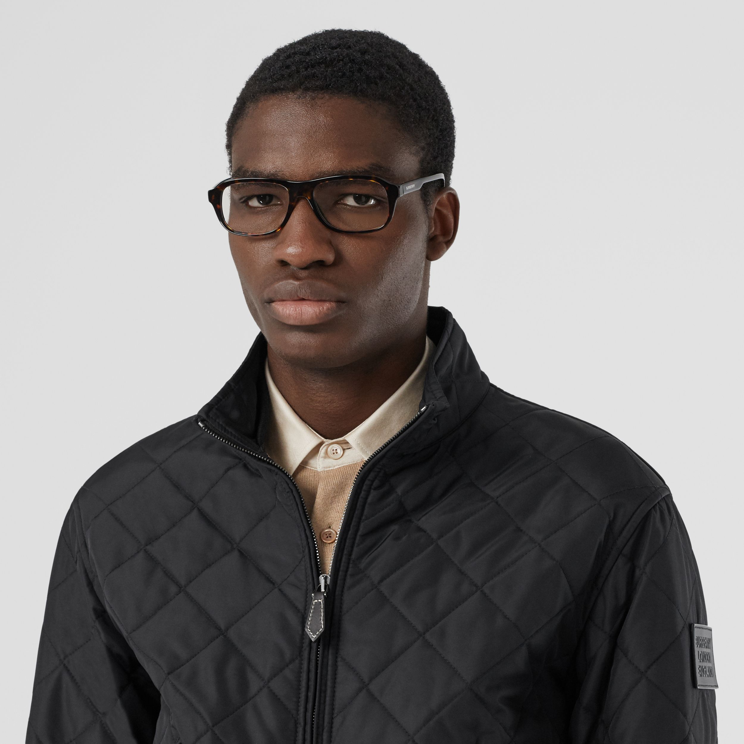 Diamond Quilted Thermoregulated Jacket in Black - Men | Burberry - 2
