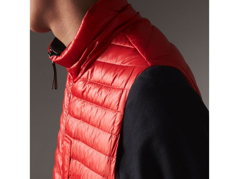 Detachable Hood Packaway Goose-down Gilet in Military Red - Men | Burberry - cell image 4