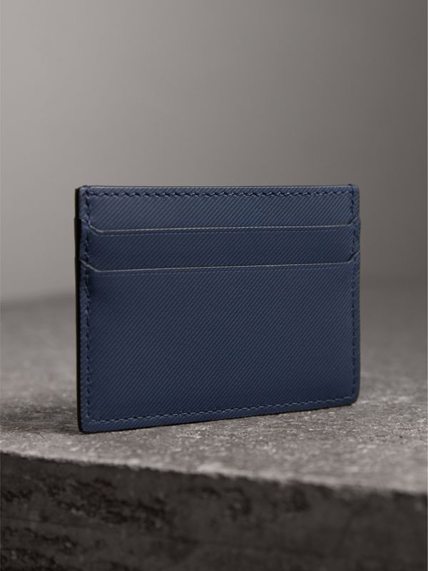 Trench Leather Card Case in Ink Blue | Burberry United Kingdom - cell image 2