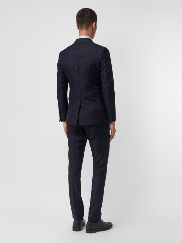 Slim Fit Wool Mohair Silk Suit in Navy - Men | Burberry - cell image 2