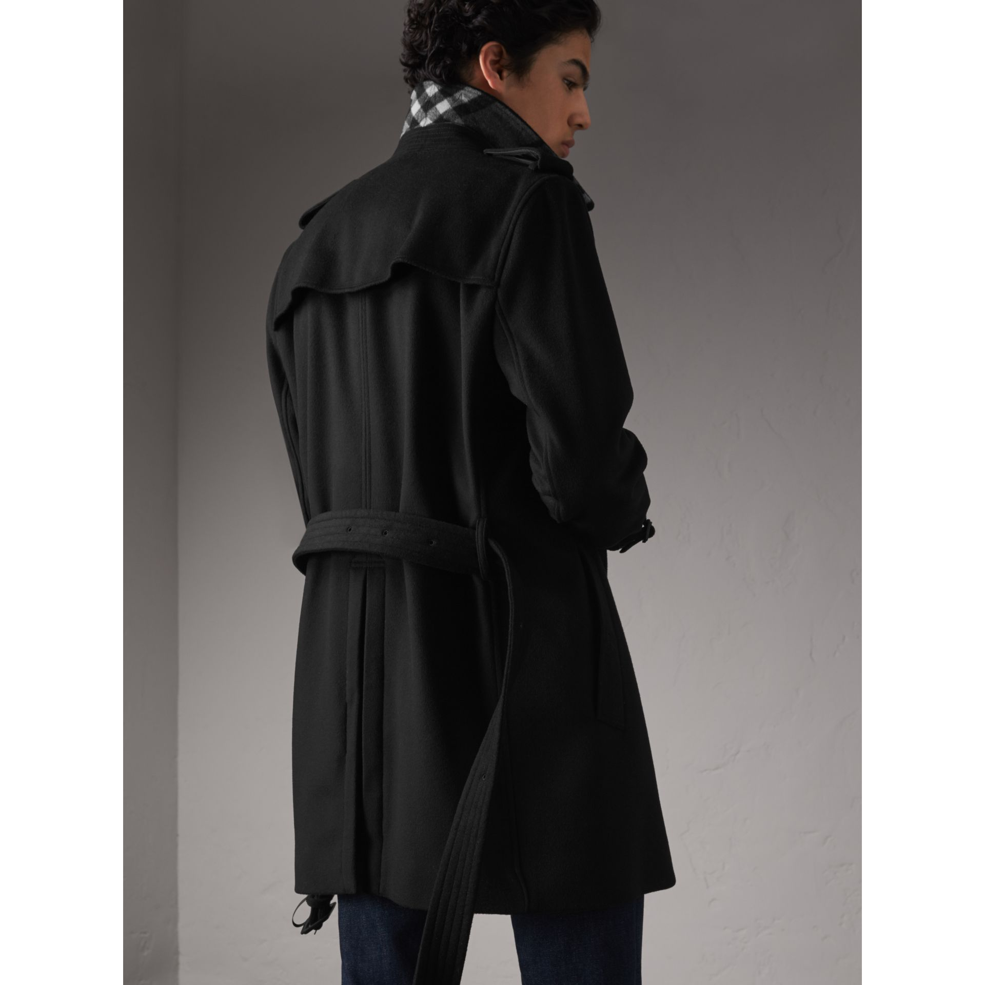 Wool Cashmere Trench Coat - Men | Burberry - gallery image 3
