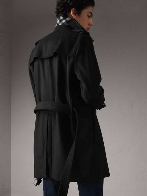 Wool Cashmere Trench Coat - Men | Burberry - cell image 2