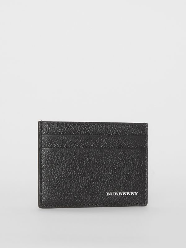 Grainy Leather Card Case in Black | Burberry United States - cell image 3