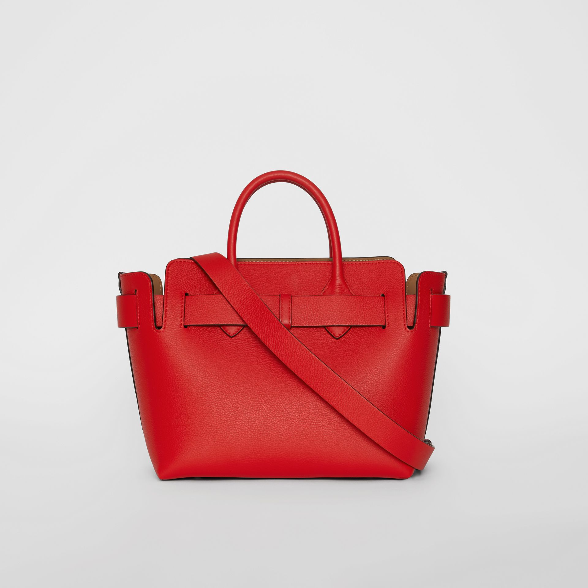 The Small Leather Triple Stud Belt Bag in Bright Military Red - Women | Burberry United States - gallery image 5