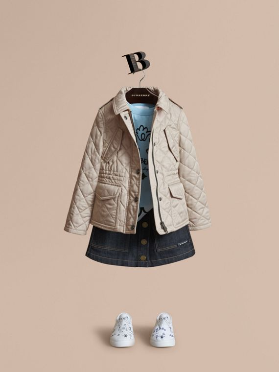 Quilted Field Jacket in Mink - Girl | Burberry Canada