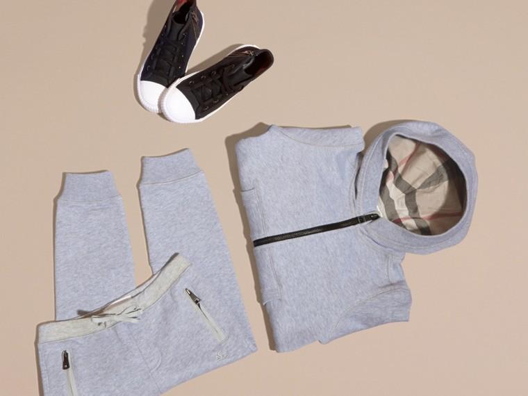 Camaïeu de gris moyens Haut en coton à capuche Camaïeu De Gris Moyens - cell image 4