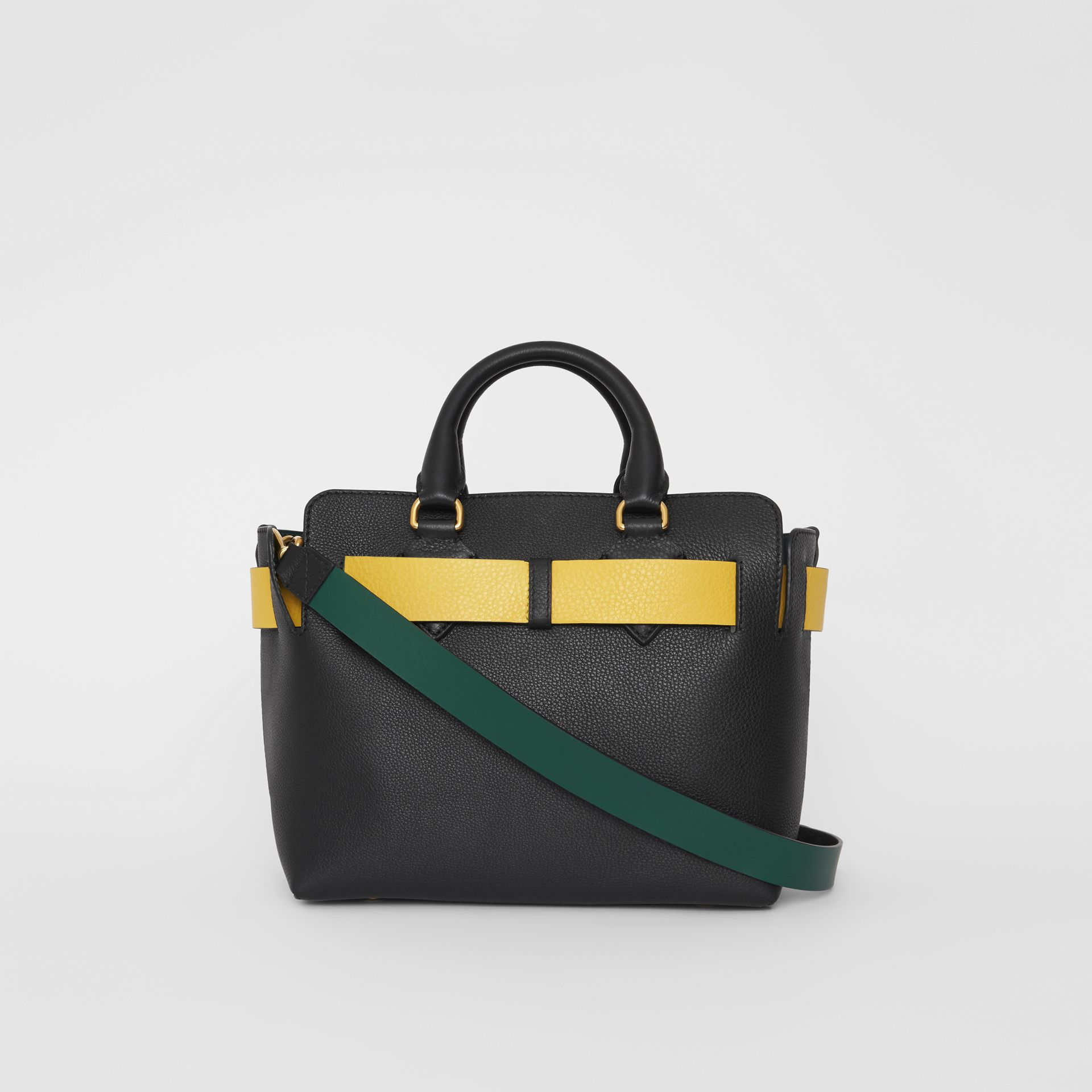 The Small Leather Belt Bag in Black/yellow - Women | Burberry Hong Kong S.A.R - gallery image 7
