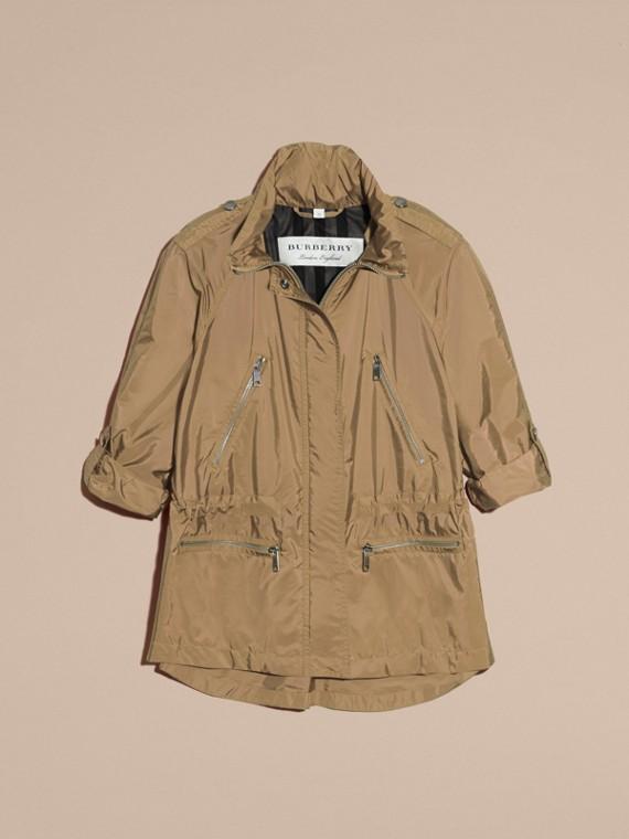 Showerproof Parka Jacket with Packaway Hood Sisal - cell image 3