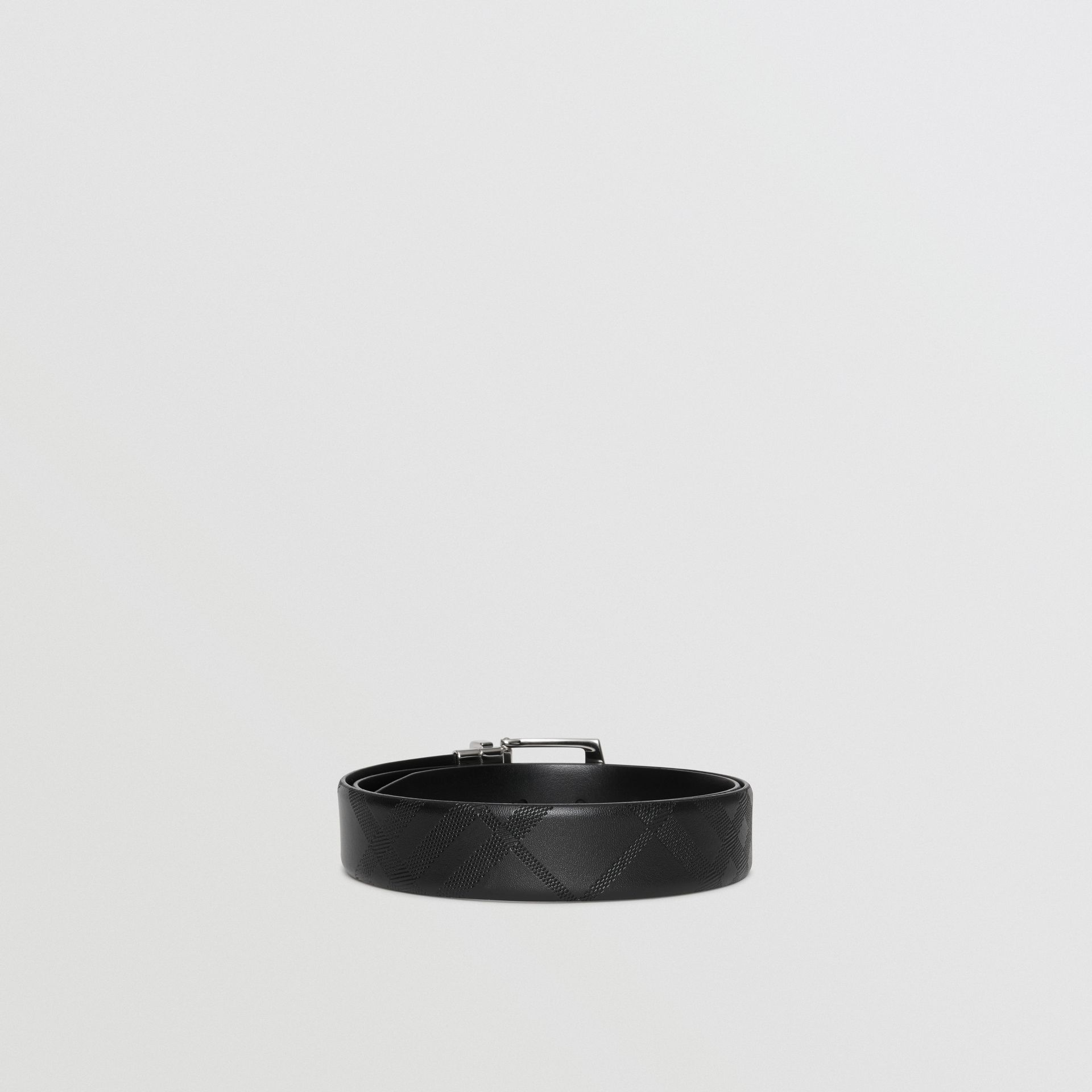 Reversible London Leather Belt in Black - Men | Burberry United States - gallery image 5