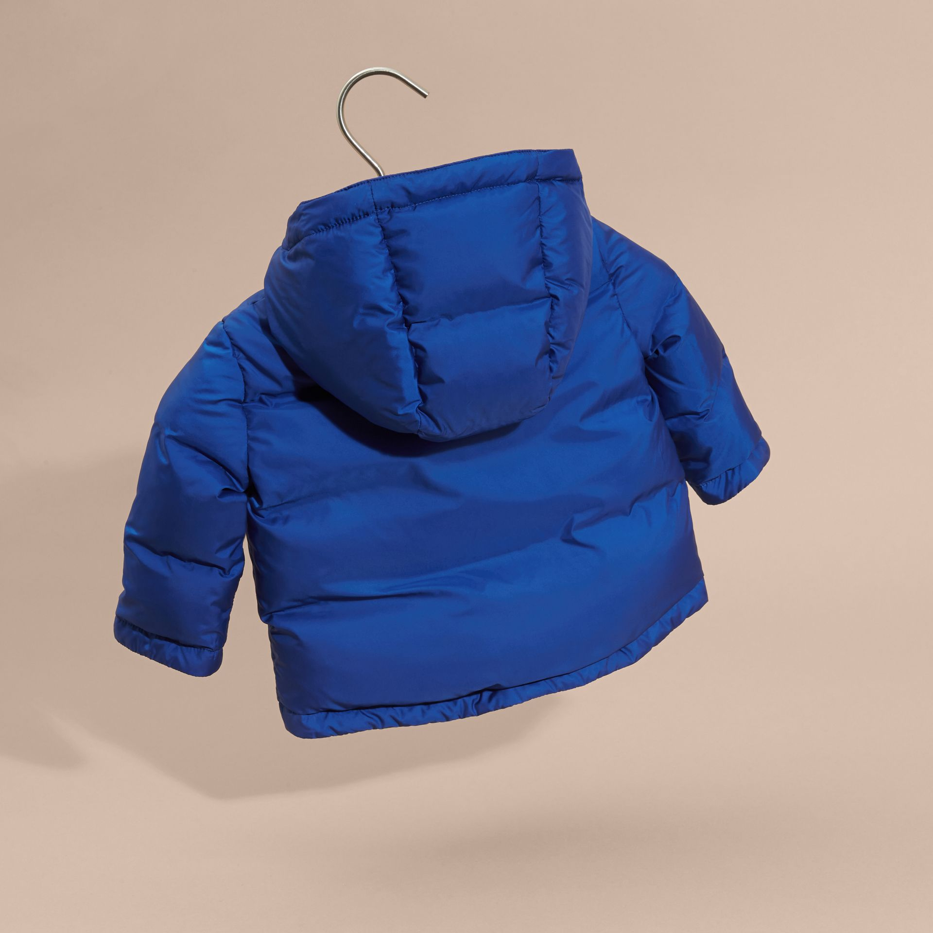 Brilliant blue Down-filled Hooded Puffer Jacket Brilliant Blue - gallery image 4
