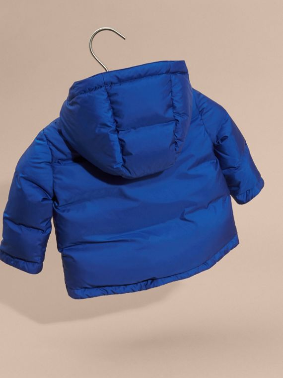 Brilliant blue Down-filled Hooded Puffer Jacket Brilliant Blue - cell image 3