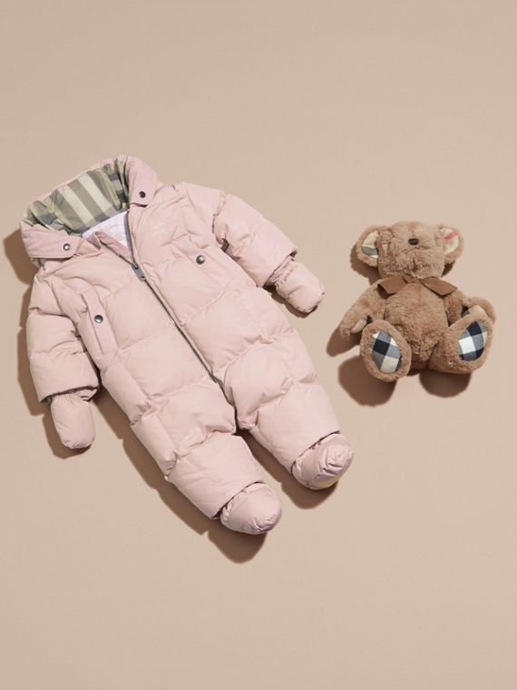 Down-filled Puffer Suit Powder Pink