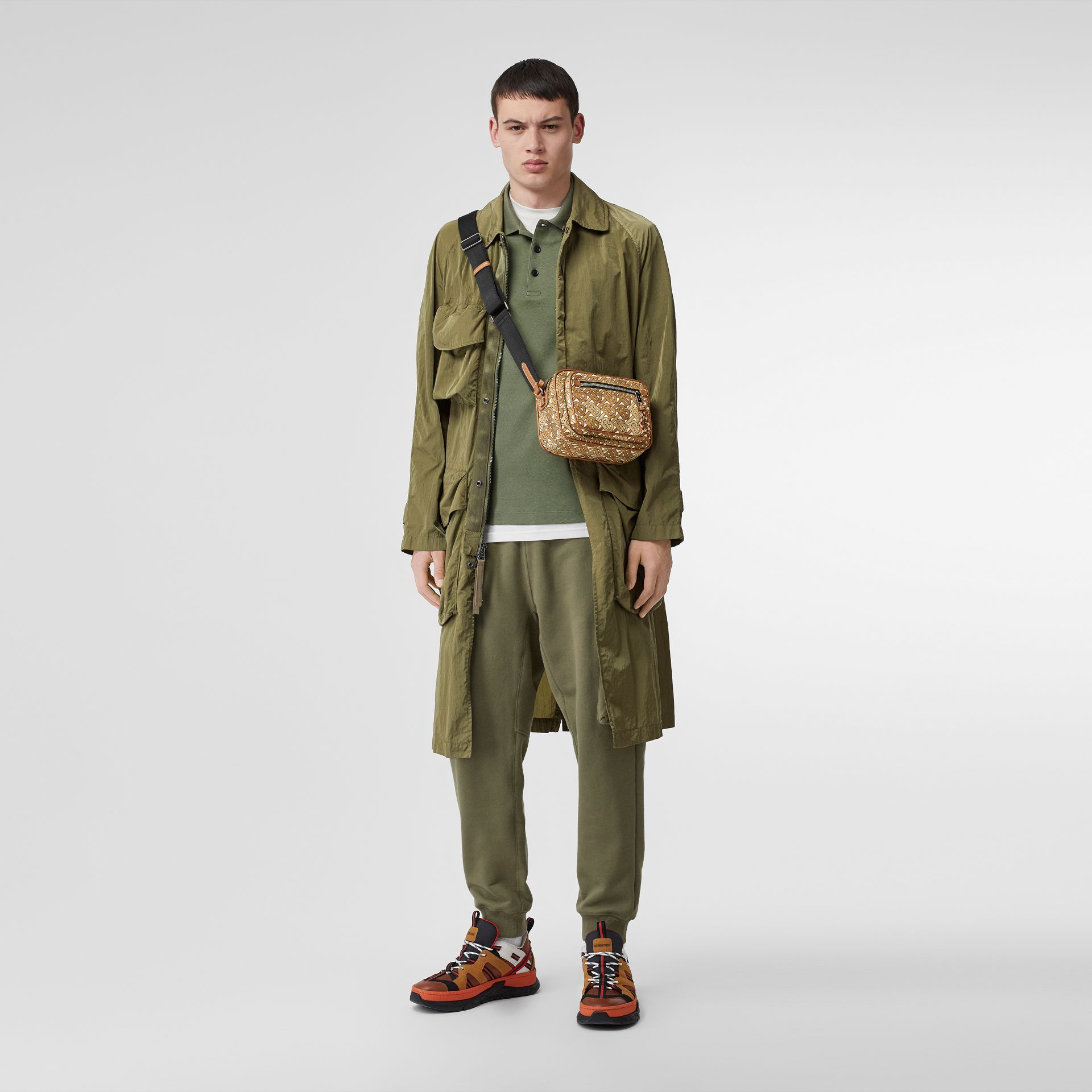 Monogram Print and Leather Crossbody Bag in Camo Brown - Men | Burberry - gallery image 5