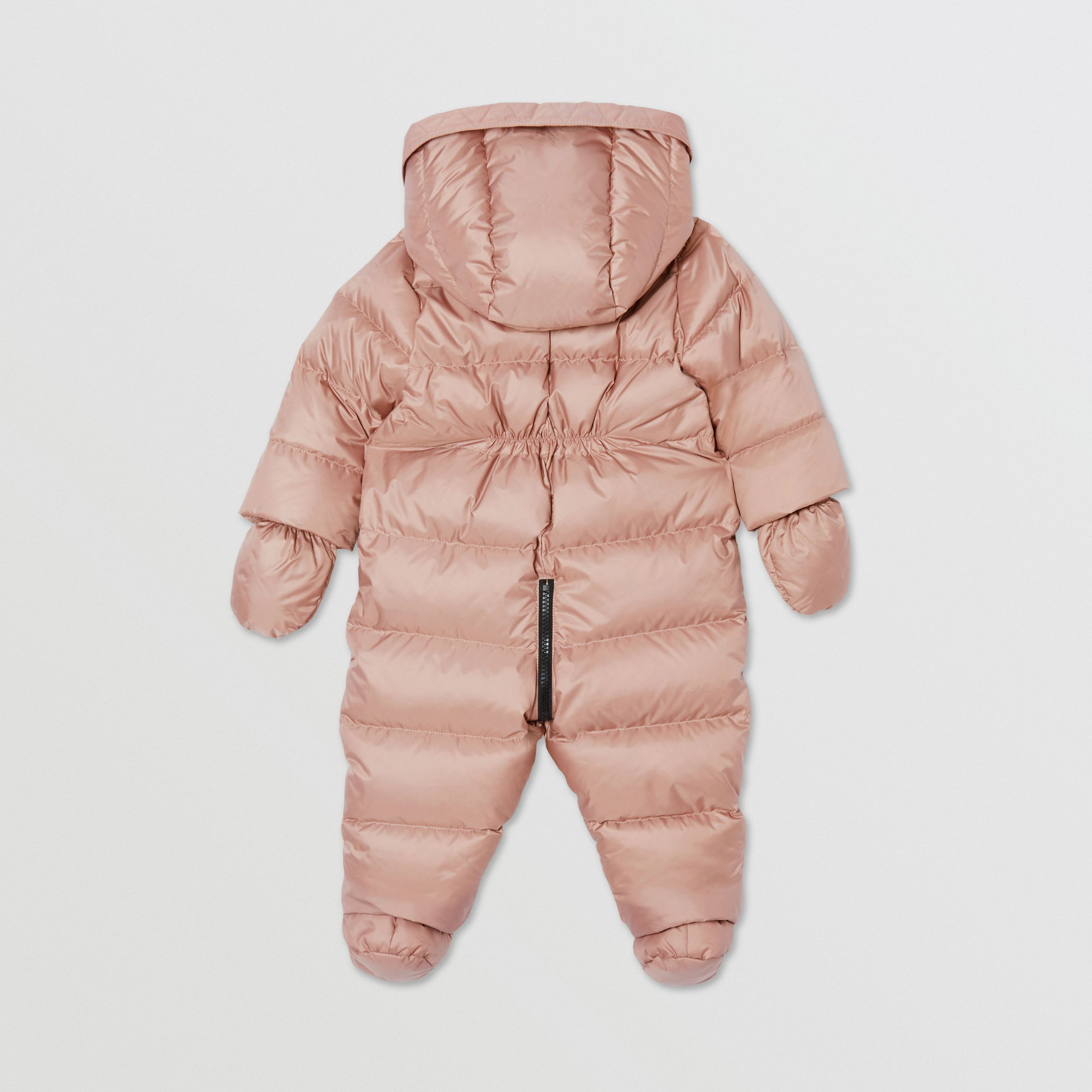 Logo Print Down-filled Puffer Suit in Lavender Pink - Children | Burberry - 4