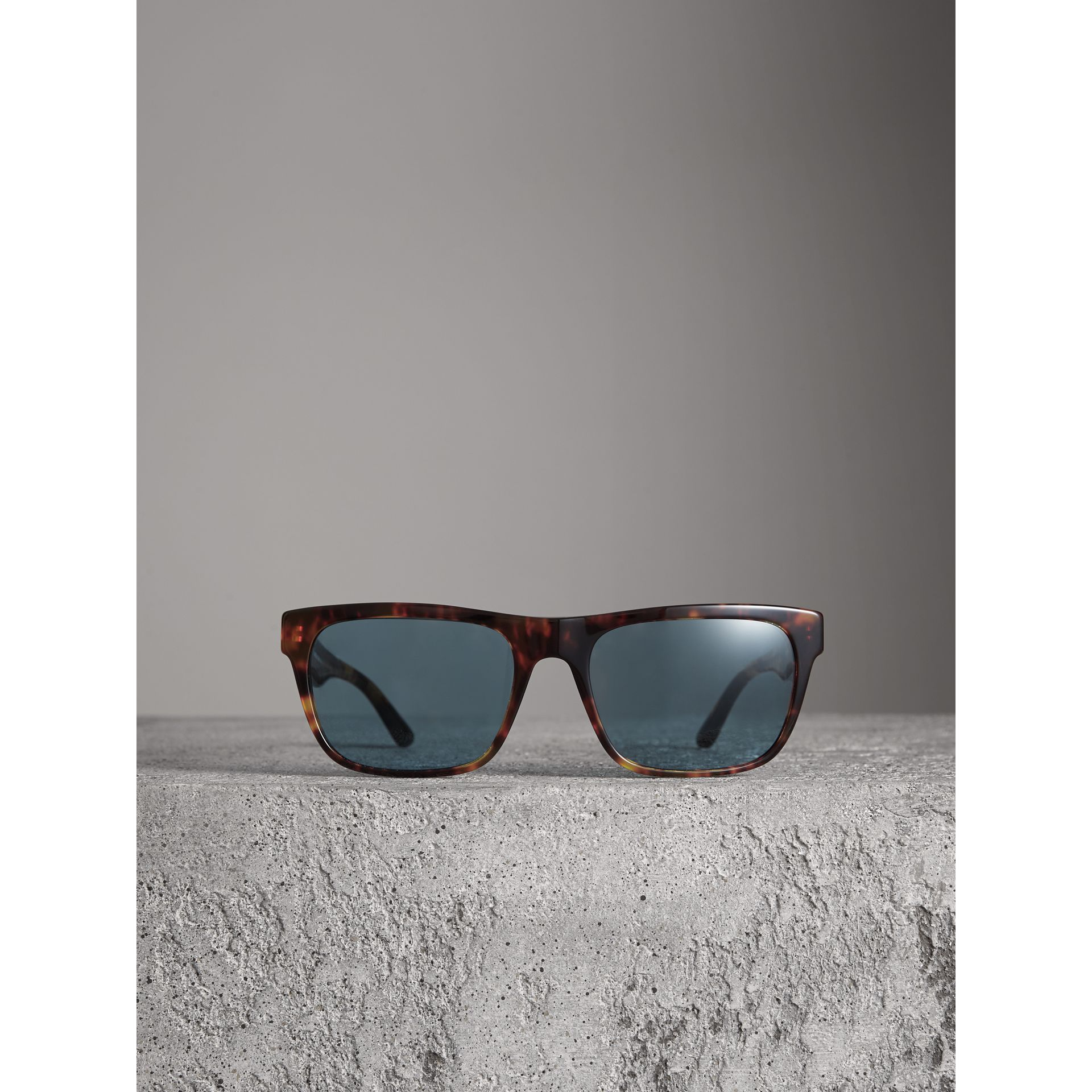 Doodle Square Frame Sunglasses in Brown - Men | Burberry United Kingdom - gallery image 3