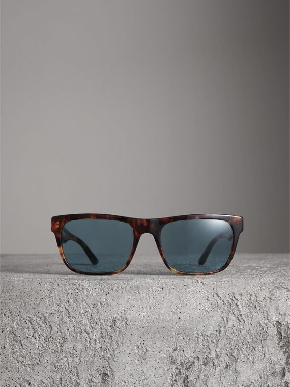 Doodle Square Frame Sunglasses in Brown - Men | Burberry Singapore - cell image 3