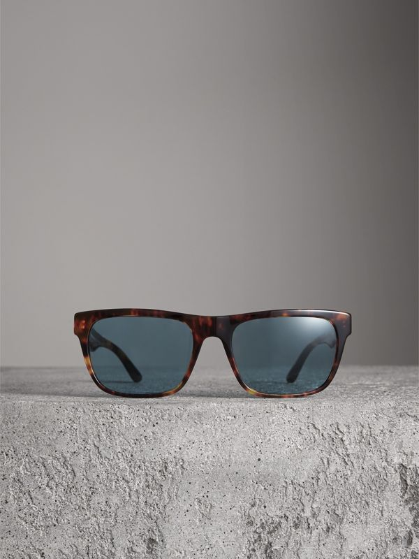 Doodle Square Frame Sunglasses in Brown - Men | Burberry - cell image 3