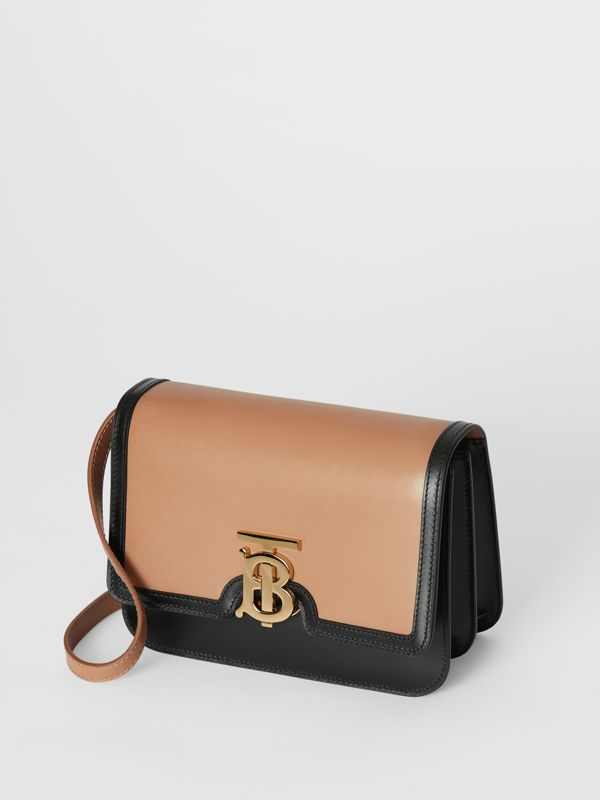Small Leather TB Bag in Light Camel/black - Women | Burberry - cell image 3