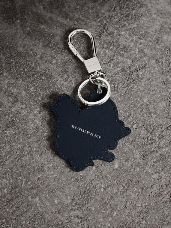 Beasts Leather Key Ring in Tan | Burberry - cell image 3